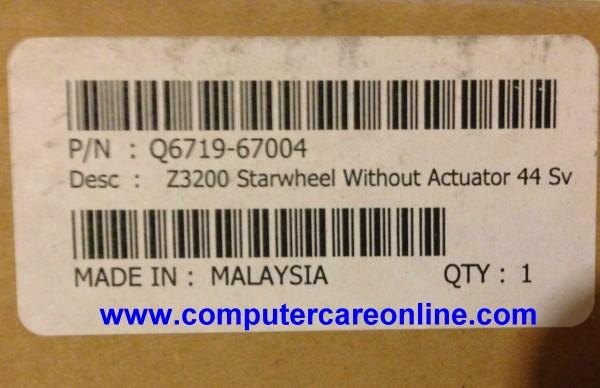 Q6719-67004 DesignJet Z Series Starwheel Assembly 44 inch Plotter New