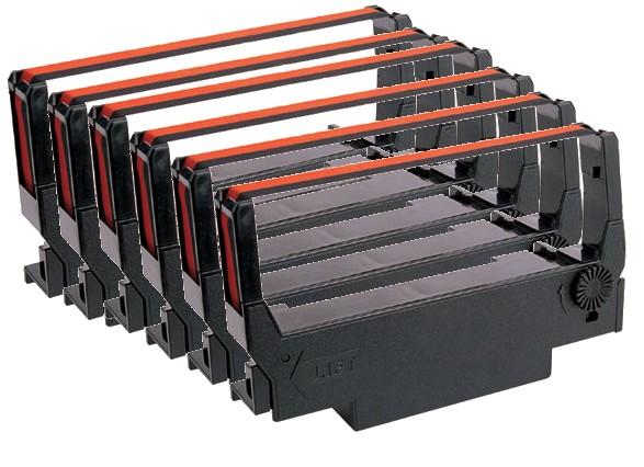SIX PACK Epson Compatible Black Nylon Ribbons ERC-30,34,38